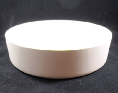 Dog bowl mold, in plaster, for making ceramic dog bowl dishes